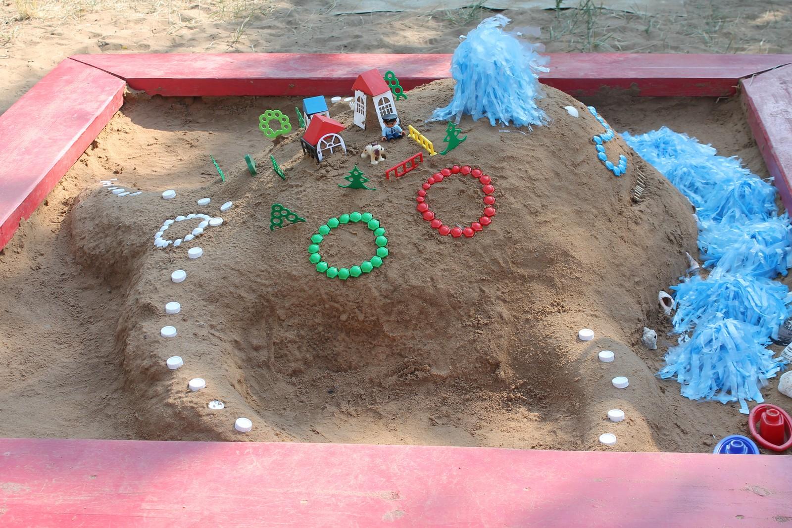 Поделки для детей из песка 49